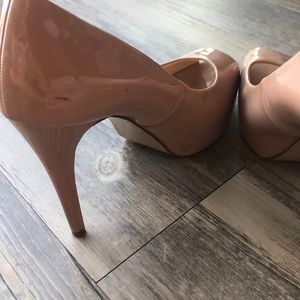 Guess Shoes - Patent Leather Peep Toe Pumps
